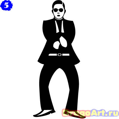 haw_to_draw_gangnam_style_step_5